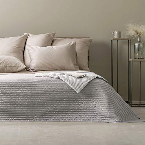 sei Design Tagesdecke, Wohndecke, Wendedecke, Überwurf (Living Trend - Taupe-hell, 240 x 260 cm)