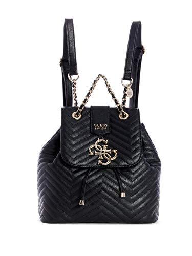 Guess Violet Backpack, Zaino Donna, Nero (Black), 25.5x25x14 cm (W x H x L)