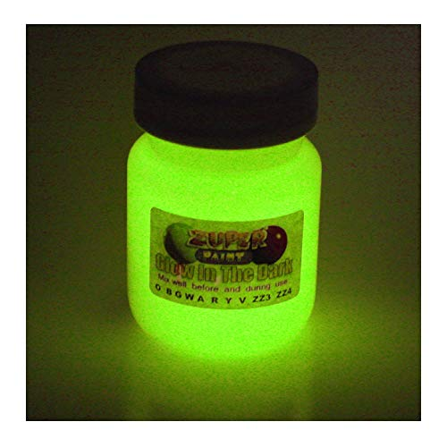 Im Dunkeln leuchtende Acrylfarbe, 30ml, Farbe wählbar, gelb, 30ml (1 fl oz)
