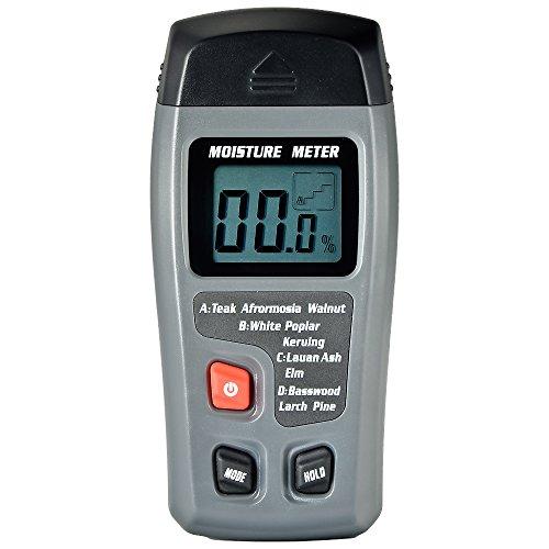 Mudder WM-01 Big LCD Display Digital Wood Moisture Meter, To Measure the Percentage of Water in Firewood, Furniture, Floor, Cordwood and Trees