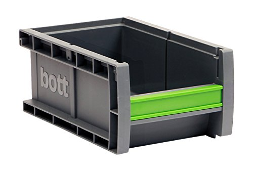Bott Sichtlagerkasten bottbox 1.2.90 mit Beschriftungsclip, 130 x 198 x 90 mm, 13022046.19