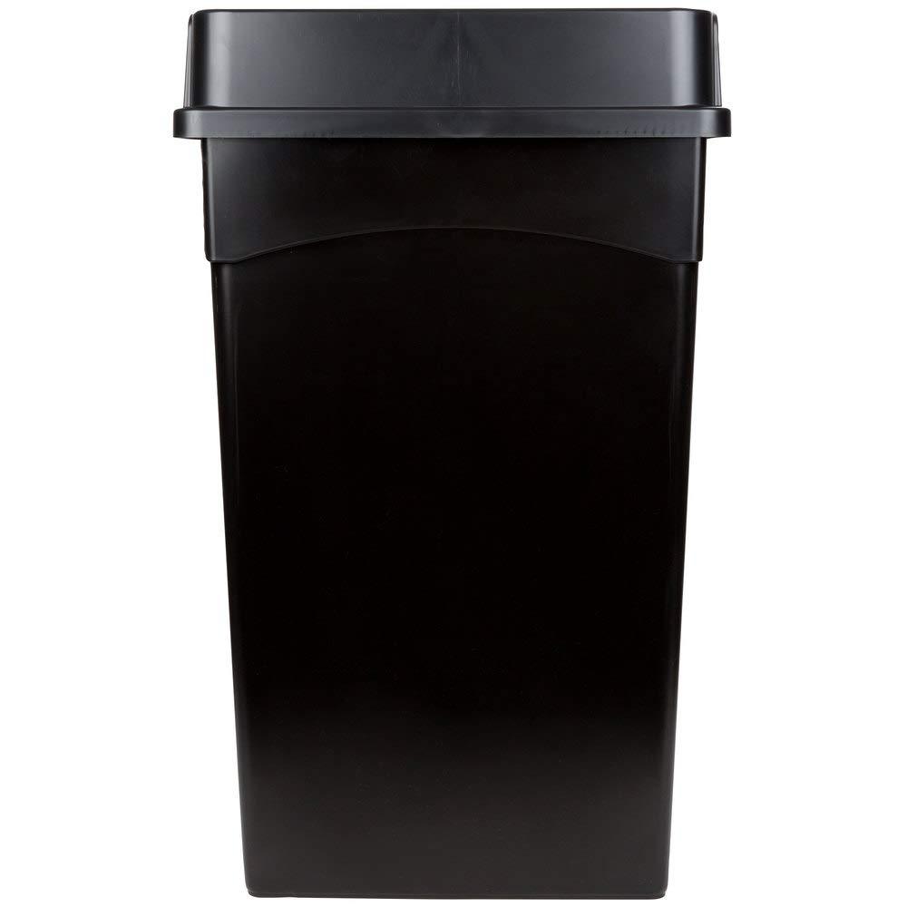 10 Pack 92 Qt. 23 Gallon Rectangular H Liters sale Wall Black 87 Inexpensive