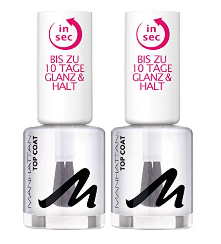 Manhattan Last und Shine Top Coat, Nr. 001 Clear, 2er Pack (2 X 12 ml)