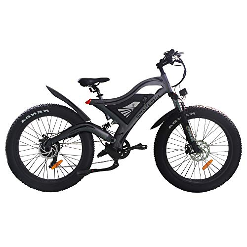 AOSTIRMOTOR Electric Mountain Bike 26' 4.0 inch Fat Tire Ebike, 48V 11.6AH Removable Lithium Battery, 750W Motor,Fat Tire Electric Bike,Electric Bicycle for Adults (Black)