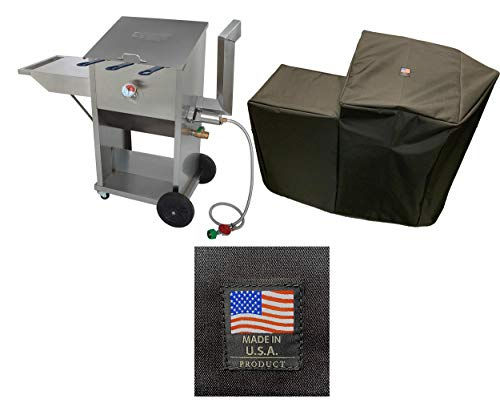 Enterprises 700-709 PVC Coated Polyester Cover 5009 Full Length Custom Protection Made for 9 Gallon Deep Fryer Protection from The Elements Made in The USA Compatible with Bayou Classic Deep Fryer