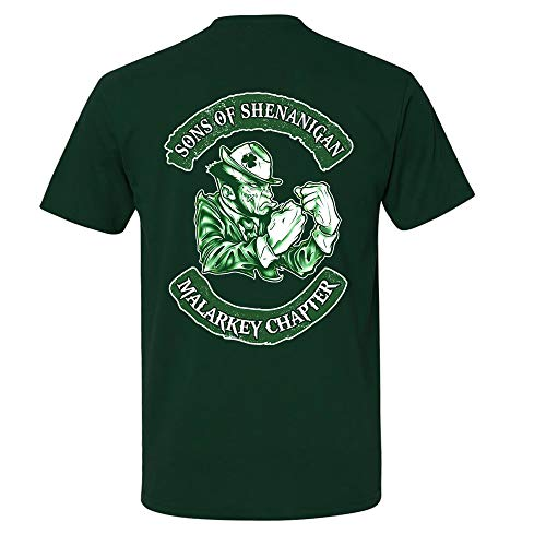 Sons Of Shenanigan Malarkey Chapter St. Patrick's Day Shirt, Sons of Ireland Irish Biker Motorcycle Celtic Clover Shenanigans St. Patrick's Day, Unisex T-shirt Sweatshirt Hoodie