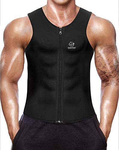TaxyFan Hot Neoprene Corset Men Waist Trainer Vest and Zipper Sauna Suit Body Shaper Shirt fit