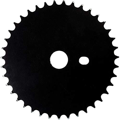 "deTOX Rude BMX Kettenblatt 18\""oder 20\"" Stahl BMX Rad Fahrrad Bike (schwarz, 18 Zoll)"