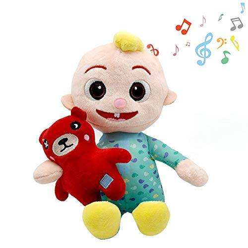 Cocomelon Toys Doll Plush Can Sing Musical Bedtime Handmade Cocomelon JJ Doll Sing Boy Cocomelon Musical Bedtime JJ Doll Plush Toy JJ Family Kids Gift Plushie (JJ with Music)