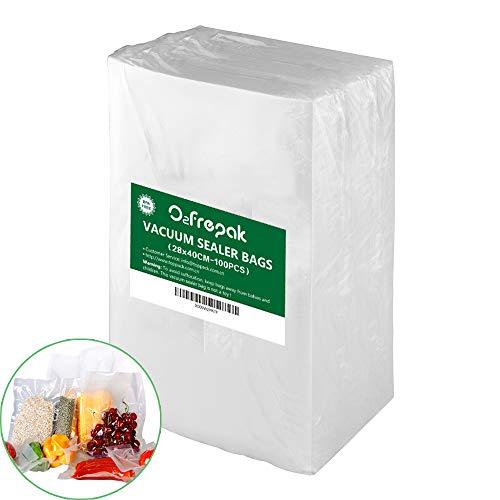 100 Beutel 28X40cm Professional Premium Qualität Vakuumier Beutel Vakuumbeutel für Lebensmittel,BPA-Frei and FDA zugelassen Folie für Vakuumierer.