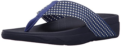 FitFlop Women's Surfa Flip-Flop, Royal Blue Mix, 6 M US