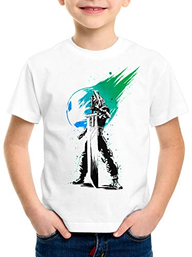 style3 Cloud Avalanche T-Shirt per Bambini e Ragazzi Final VII Gioco di Ruolo, Dimensione:128