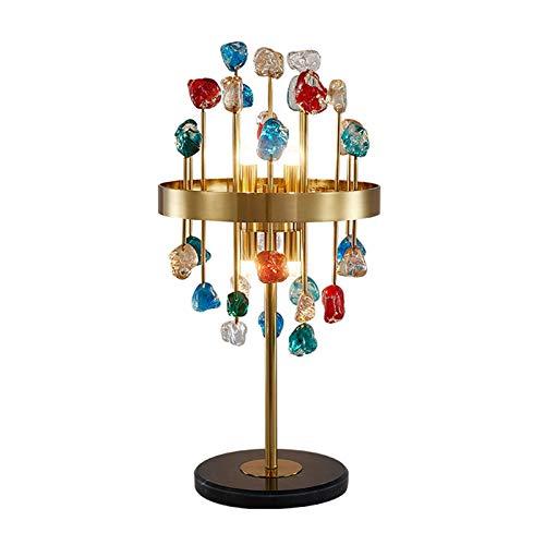 ZYLBDNB Modern Nightstand Desk Lamp 22' Color Crystal Table Lamp Bedroom Creative Crystal Bedside Lamp Decorative Elegant Lamp for Living Room Bedroom Dining Room Bedroom Light