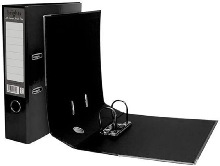 Pukka Dealing full price Bargain reduction Brights Lever Arch File Black 10 A4 Box of