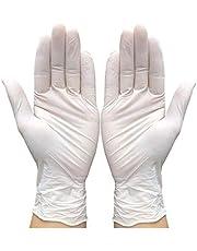 100st Latex, Gepoederd Wegwerphandschoenen, Handschoenen Onderzoek Keuken, Poeder-vrije, Niet-steriele, Herbruikbare Reiniging L (Color : White, Size : XL)