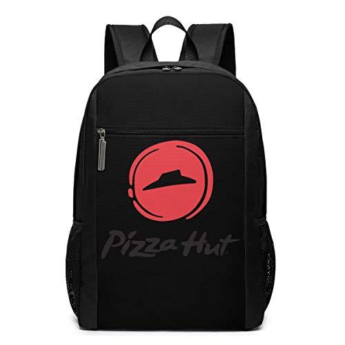 Pizza Hut Logo Schwarzer Rucksack Lässige Rucksäcke College Computer Tasche für Männer Frauen