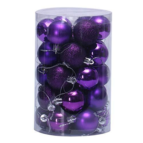 VijTIAN - Palline per albero di Natale da appendere a forma di palla per albero di Natale, 34 pezzi, 40 mm