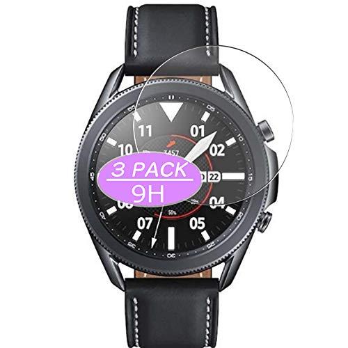 VacFun 3 Piezas Vidrio Templado Protector de Pantalla, compatible con SAMSUNG galaxy watch3 watch 3 45mm, 9H Cristal Screen Protector Protectora Reloj Inteligente NEW Version