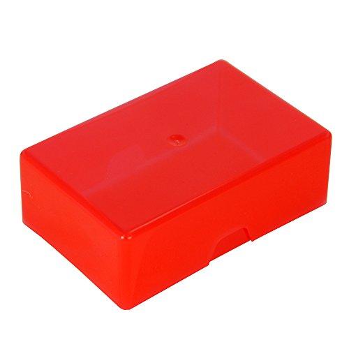 WestonBoxes - Plastic visitekaartjesboxen 35 mm diep, ideaal voor opslag en transport van visitekaartjes (Root, 50 Stuks)
