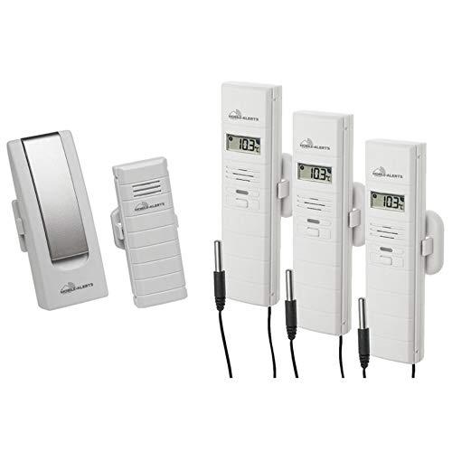 ELV Mobile Alerts Wetterset mit Gateway, Temperatursensor, 3X Thermo-/Hygrosensor