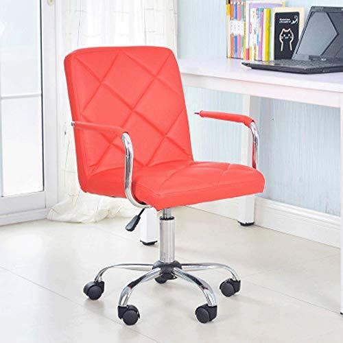 Away lederen bureaustoel, Style Designer High Back geribbelde Executive Computer Bureau Stoel, Swivel Studio Barber Wielen Stoel (8 kleuren) (Color : D)