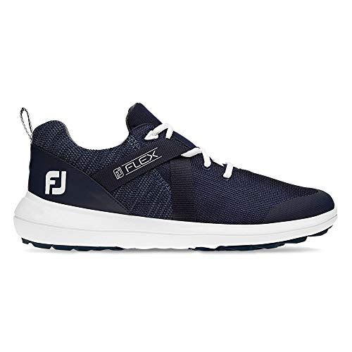 FootJoy Men's Flex Golf Shoes, Navy, 9.5 W US