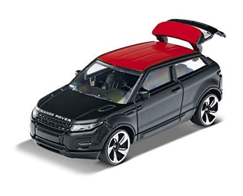 Majorette- Coche de Juguete Premium Range Rover Evoque, Rueda Libre, Piezas Que se abren con suspensión, 1:64, 7,5 cm, Negro, para niños a Partir de 3 años (212053052Q27)