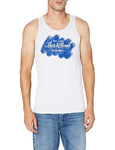 JACK & JONES Herren JORTORINO Tank TOP Trägershirt/Cami Shirt, Cloud Dancer, M