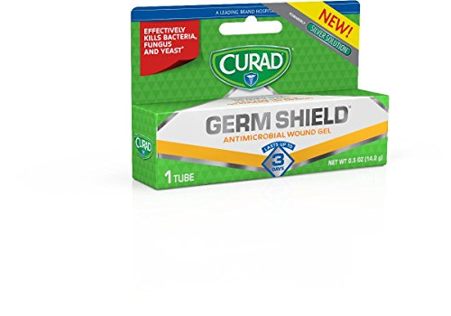 GermShield Antimicrobial Silver Wound Gel 0.5 ounces (Pack of 12), for topical cuts, wounds, diabetic sores, MRSA, bacteria, fungus, yeast