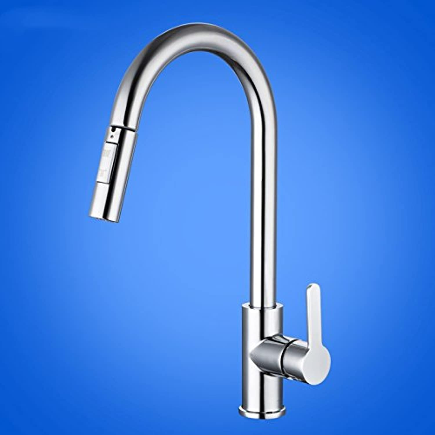 WasserhahnTap Kitchen faucet shower double effluent copper pull style telescopic sink sink faucet hot cold water