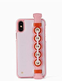 Kate Spade New York Grommet Hand Strap Stand iPhone Xs/iPhone X Case, Peony Blush