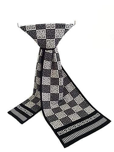 XUJJA pañuelos de Tela Escocesa 2019 de los Hombres de Punto Bufandas de la Manera Coreana Bufandas Hombres Europeos y Americanos (Color : Black White, Size : 35-185CM)