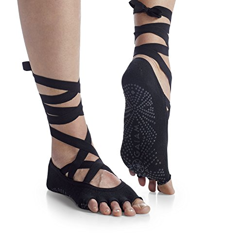 Gaiam Yoga Socks | Premium Studio Grippy Non Slip Sticky Grip Accessories for Women & Men | Hot...