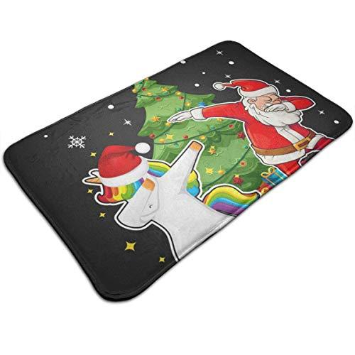Weihnachten Einhorn Weihnachtsmann Tupfen Baum Persönlichkeit Muster Wohnzimmer Schlafzimmer Teppich Fußmatte Druck rutschfeste Matte