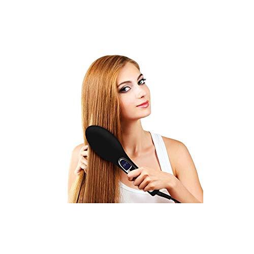 Mamzelle O Brushture - Cepillo alisador electrico que evita el encrespamiento, 39 W, color negro y morado