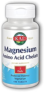 Kal 220 Mg Magnesium Chelated Tablets, 100 Count