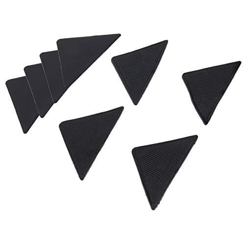 ukYukiko 4 Stück umweltfreundliche Zangen Ruggies Teppichmatte Anti-Rutsch-Pads Ecken rutschfest waschbar Wiederverwendbare Silikon-Griff-Pads