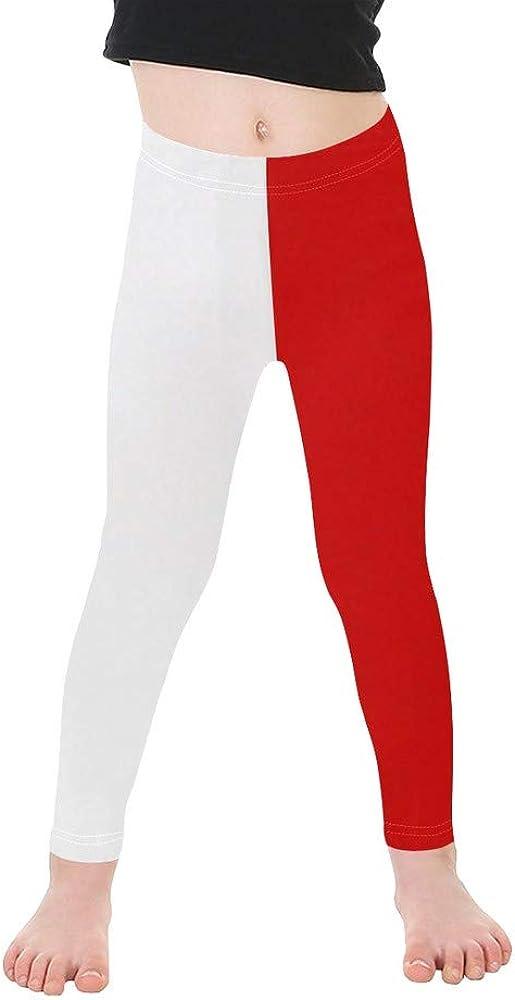 Christie Quinn Little Girls' Two Color Red White All Over Print Legging