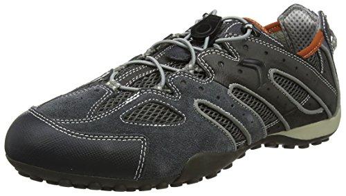 Geox Herren Uomo Snake J Sneaker, Grau (Dk Grey/Lt Grey), 43 EU