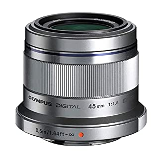 Olympus M. Zuiko Digital ED 45mm f1.8 (Silver) Lens for Micro 4/3 Cameras - International Version (No Warranty) (B0058G40O8) | Amazon price tracker / tracking, Amazon price history charts, Amazon price watches, Amazon price drop alerts