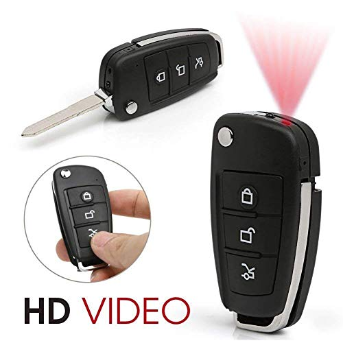 Spy-Kameras Car Key Kamera 1080p Full HD-Camcorder Keychain Sehr kleine unsichtbare IR versteckter Wearable Vehicle Fernbedienung Kamera LMMS