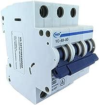 Yuco YC-63-3D Supplemental Protector Din Rail Miniature Circuit Breaker 3P 63A D Curve TUV UL 1077 European Design CSA C22.2
