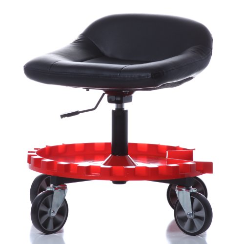 Traxion 2-230 Monster Seat II Mobile Rolling Gear Seat W/All-Terrain 5' Casters