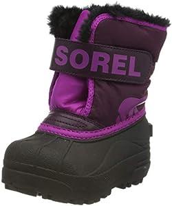Sorel Toddler Snow Commander, Botas de Invierno Unisex bebé, Morado (Purple Dahlia, Groovy Pink), 21 EU