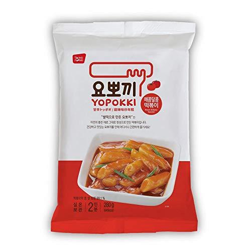 Yopokki Korean Instant Tteokbokki Rice Cake Spicy Sauce (1 Pack, Spicy & Sweet)