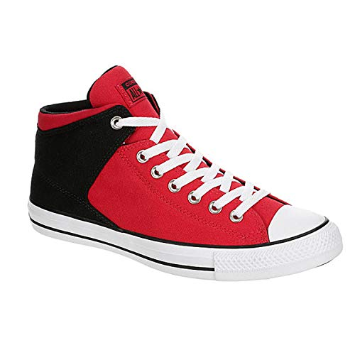 Converse Mens CTAS High Street Sneaker, Red/Black/White, 10 US
