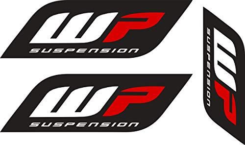 Pegatina Sticker ADESIVO AUFKLEBER Decals AUTOCOLLANTS Compatible con WP Suspension Horquilla Coche Y Moto Impresion Digital 3 Unidades REF1