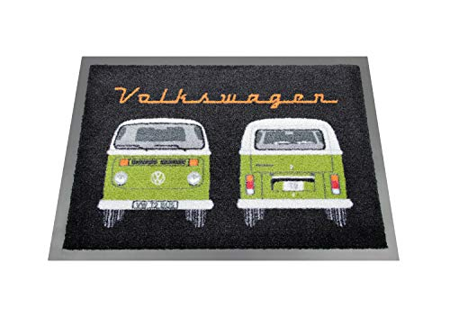 Brisa VW Collection Volkswagen T2 Bus Alfombrilla, 70x50cm - Frontal & Trasera/Verde