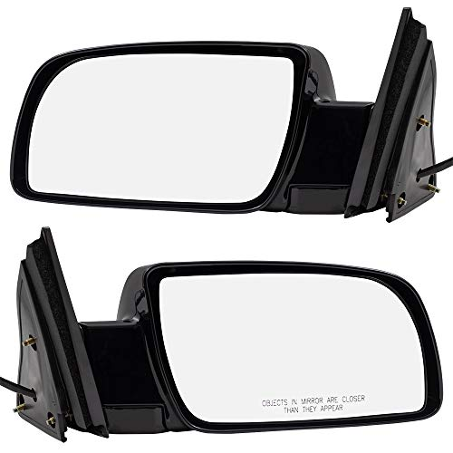 Brock Driver and Passenger Power Side View Mirrors with Metal Bases Replacement for 88-99 Old Body Style C/K Pickup Truck 15764757 15764758