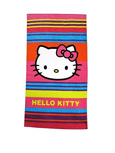 CTI 042336 Toalla de baño Hello Kitty Kim, algodón y Velour, 85 x 160 cm